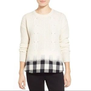 New Madewell Wintermix Cable Knit Wool Sweater
